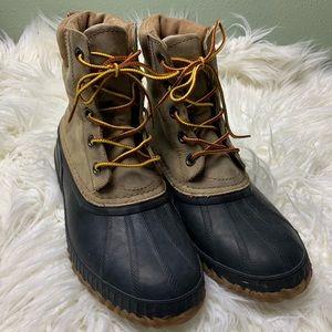 Sorel Cheyanne lace up duck boots sz 8 brown